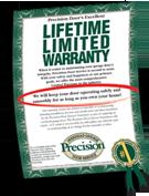 Precision Garage Door Warranty