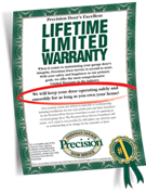 Precision Garage Door Warranty